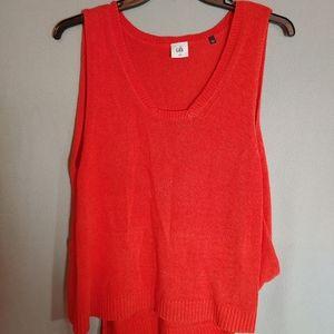 Cabi Orange Siren Sleeveless Sweater Vest/Tank